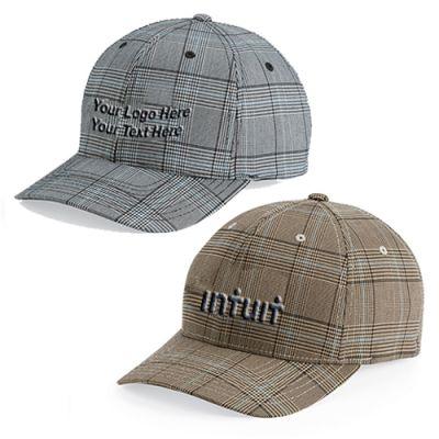 Personalized Flexfit Glen Check Caps