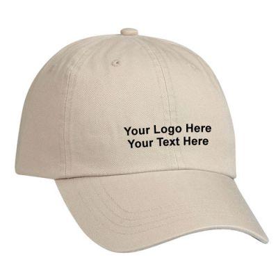 Custom Imprinted Cotton Chino Caps - Hats & Caps