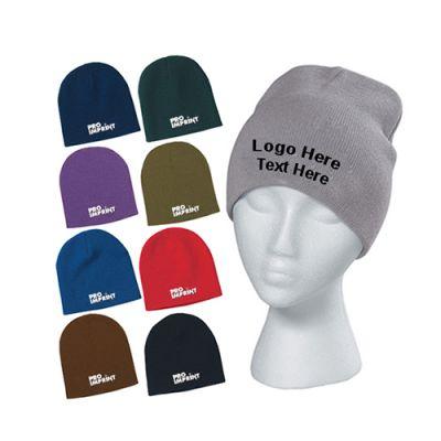 Custom Imprinted Knit Beanie Caps