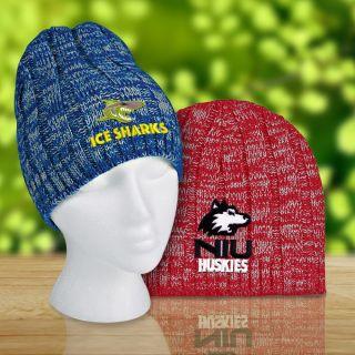 Custom Printed Knit Heathered Beanie Caps