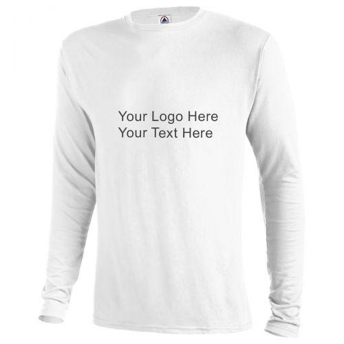 Custom printed delta dri 30 1 39 s performance adult long for Custom printed long sleeve t shirts