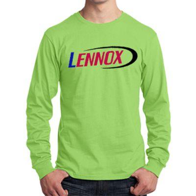 Custom Printed Port and Company Long Sleeve Cotton T-Shirts