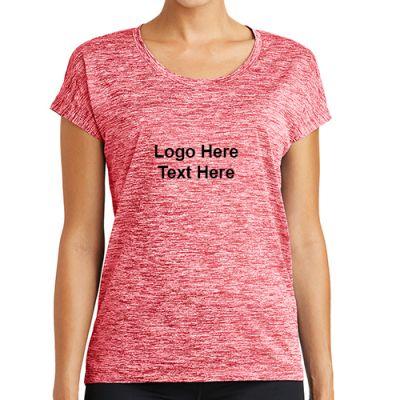 Custom Printed Sport-Tek Ladies PosiCharge Electric Heather Sporty Tee
