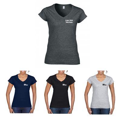 Promotional Gildan Softstyle Ladies V-Neck T-Shirts