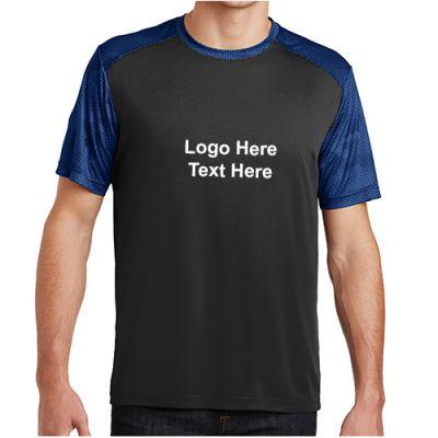 promotional logo sport tek camohex colorblock t shirts