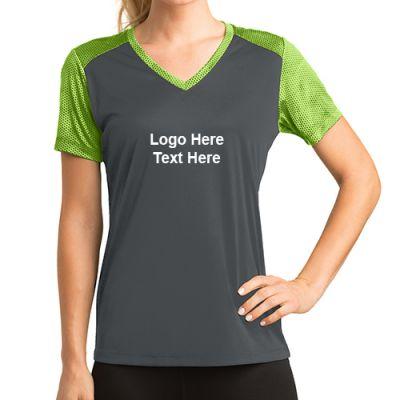 Promotional Logo Sport-Tek Ladies CamoHex Colorblock T-Shirts