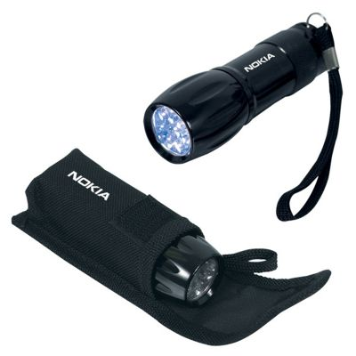 Custom Printed 9 LED Mini Flashlights with Polyester Carry Case
