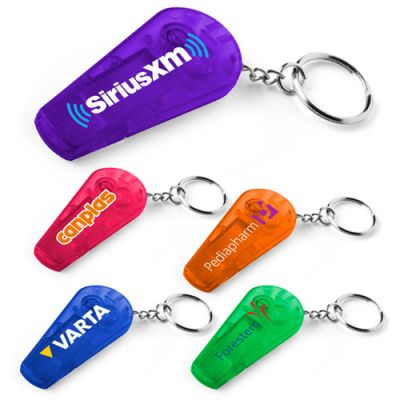 Custom Whistle Key Tag with Flashlights