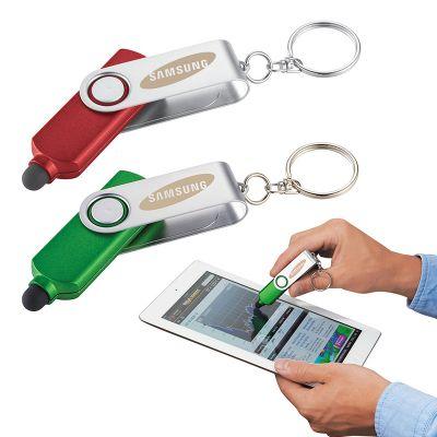 Custom Printed Rotate Key-Light with Stylus