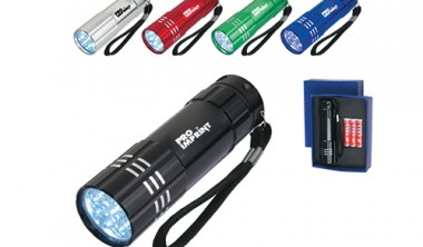 Personalized Aluminum LED Flashlights with Straps