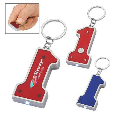 Customized Number 1 Shape LED Keychains