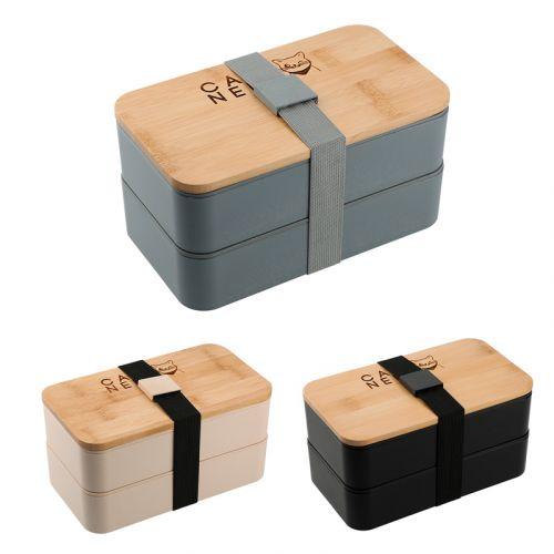 Stackable Bamboo Fiber Bento Boxes
