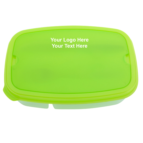 Custom Imprinted 2-Section Lunch Containers