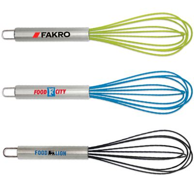 Custom Silicone Kitchen Whisks with Stainless Steel Handle