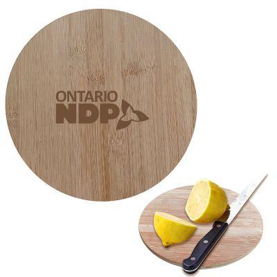 Custom Printed Round Bamboo Cutting Boards
