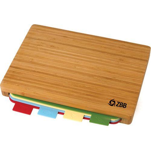 custom printed 5 pc bamboo cutting board sets