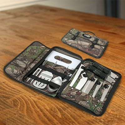 Custom Printed Big Sur Camo BBQ Camping Sets