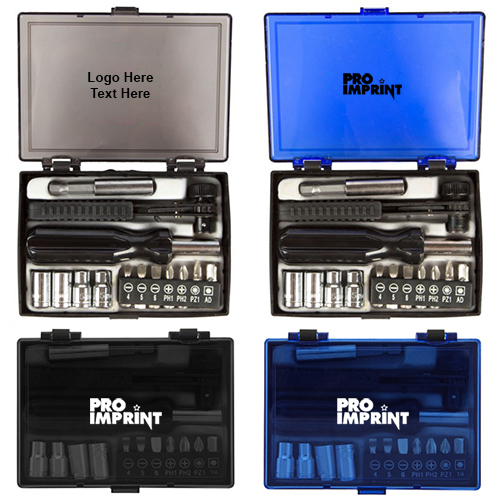 Custom Imprinted 14 Piece Ratchet Driver Set Tool Sets