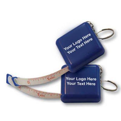 Custom Logo Imprinted Tape Measure Keychains