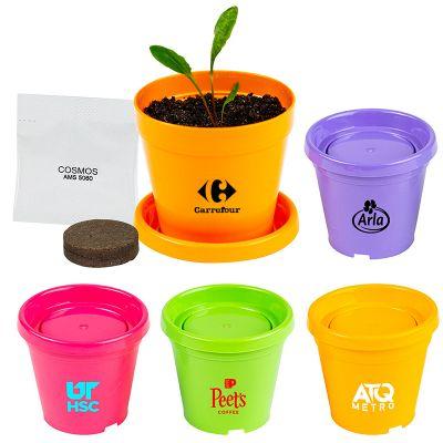 Custom Imprinted Colorful Planter Kits