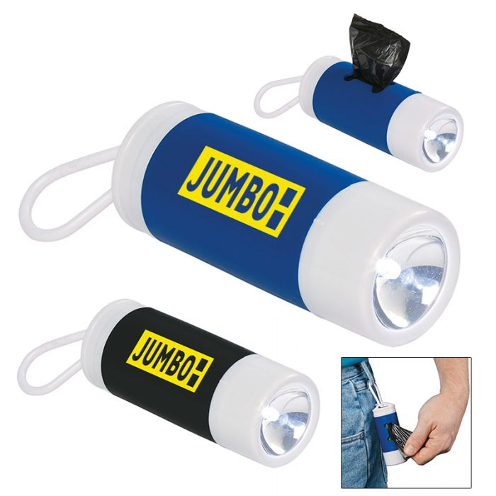 Custom Printed Dog Bag Dispenser With Flashlight