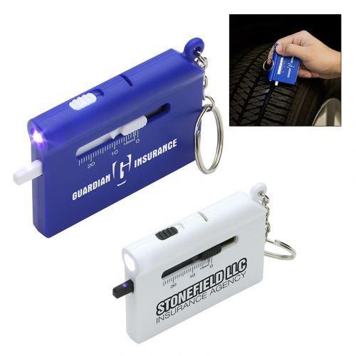 customized roadside auto multi tool with led flashlight and keychain