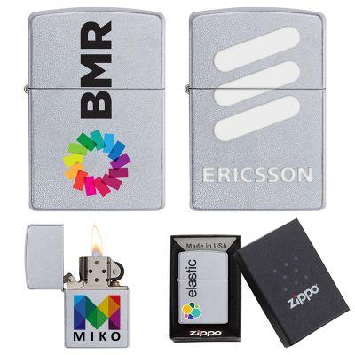 Custom Imprinted Satin Chrome Zippo® Windproof Lighters