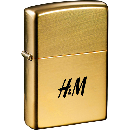 personalized zippo windproof lighter high polish brass