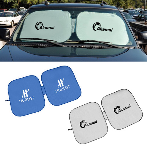 promotional square shaped car sun shades