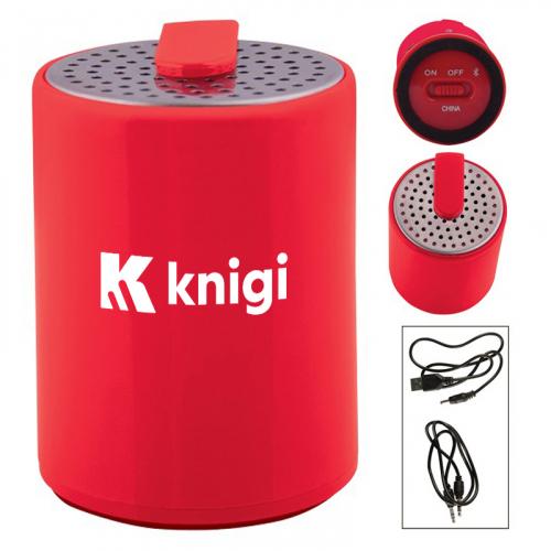 Custom Round Plastic Mini Bluetooth Wireless Speakers