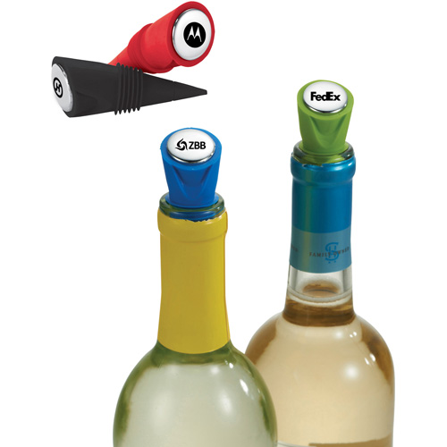 customized happy nest bottle stopper set