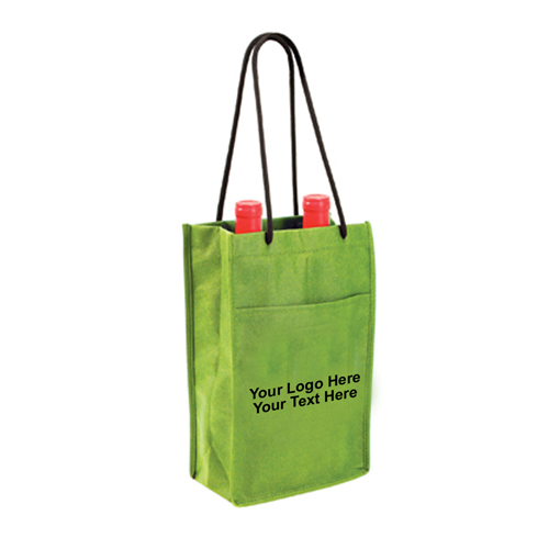Custom Non-Woven Double Bottle Wine Bags