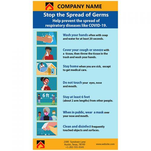 Coronavirus Prevention Magnets 20 Mil Square Corners