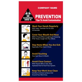5x9 Customized Printed Coronavirus Prevention Magnets 20 Mil Square Corners