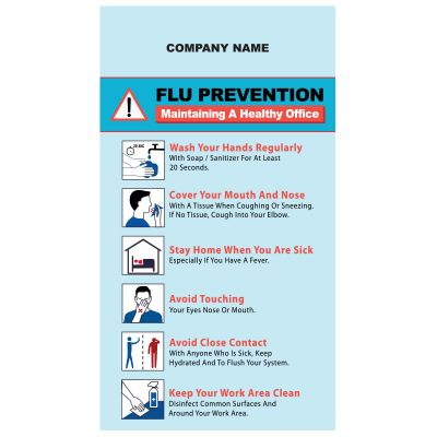 5x9 Custom Printed Flu Prevention Magnets 25 Mil Square Corners