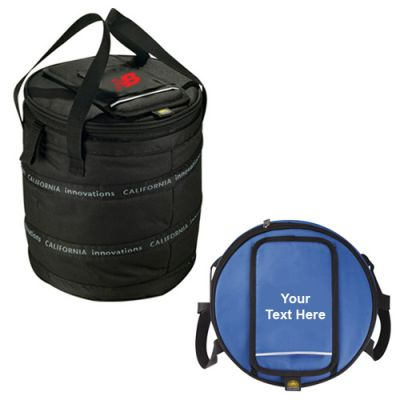 Custom Imprinted California Innovations 24-Can Barrel Cooler Bags