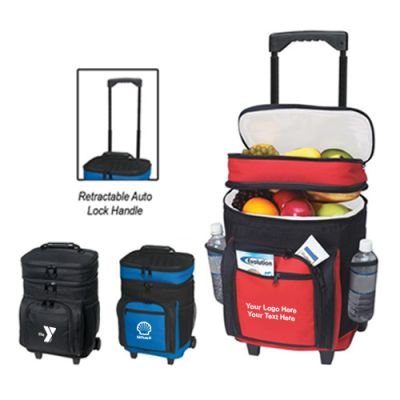 Custom Printed 30 Can Rolling Kooler Bags