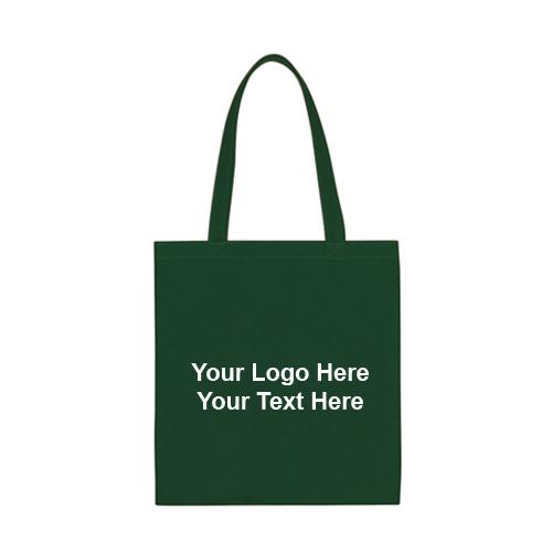 13.5 x 14 Inch Custom Non-Woven Tote Bags - Economy Tote Bags