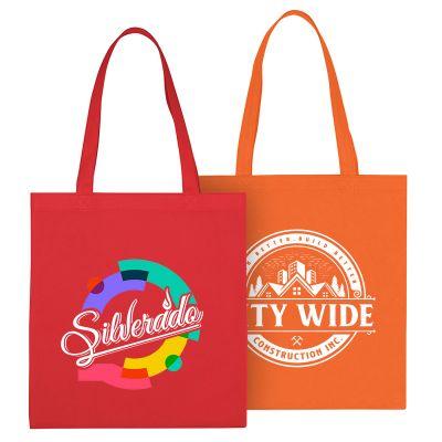 13.5 x 14 Custom Non-Woven Economy Tote Bags