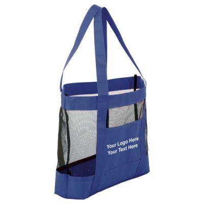 Custom Printed Surfside Mesh Tote Bags - Canvas Tote Bags