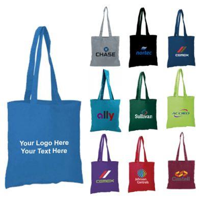 Custom Colored Cotton Economy Tote Bags