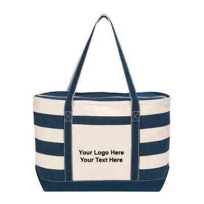 Cotton Canvas Nautical Tote Bags