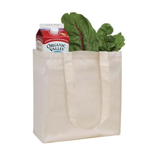 Promotional V Natural Organic Grocery Tote Bags