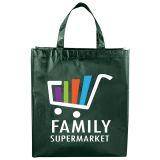 Custom Metallic Laminated Shopper Tote Bags
