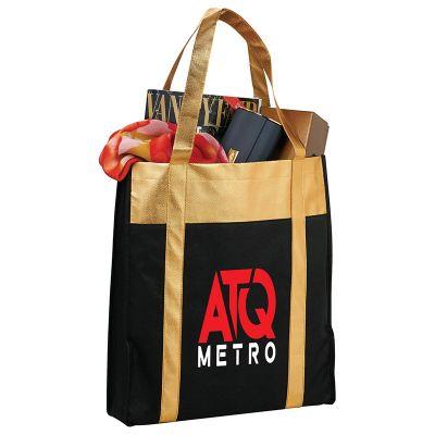 Metallic Non-Woven Shopper Tote Bags