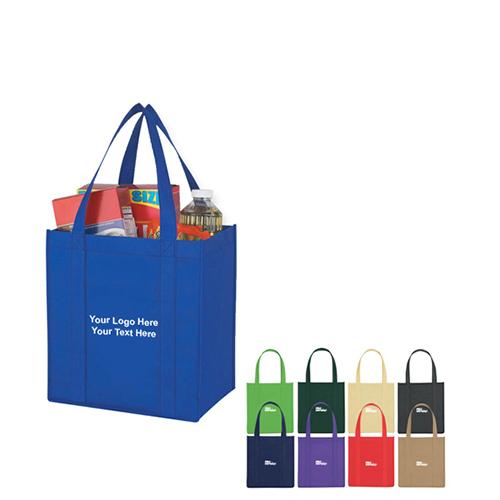 Custom Imprinted Non-Woven Avenue Shopper Tote Bags