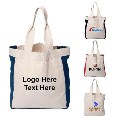 12 Oz Custom Imprinted Mediterranean Cotton Tote Bags