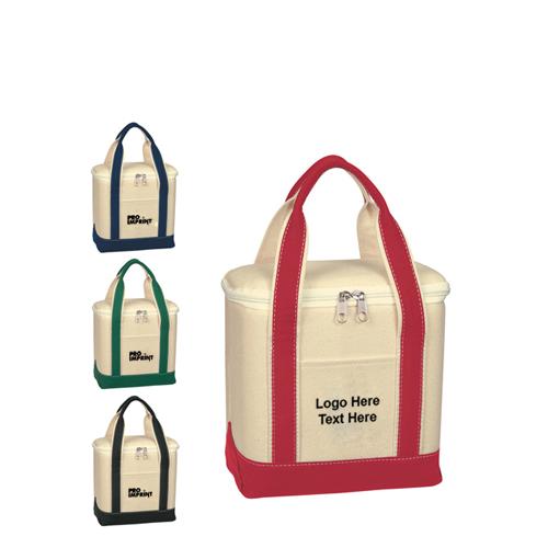 Custom Small Cotton Canvas Kooler Bags