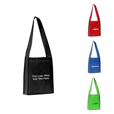 Custom Printed Polytex Wide Shoulder Strap Tote Bags
