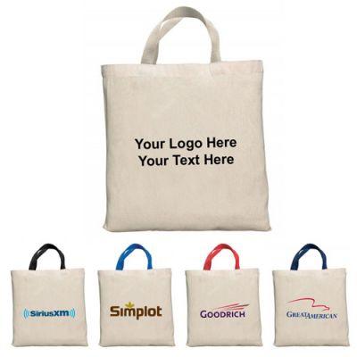 Custom Imprinted Natural Bell-Ringer Tote Bags